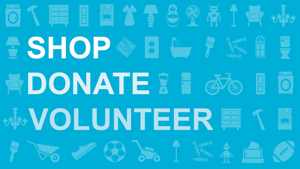 Shop donate volunteer